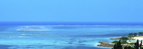 Panorama sur l'Ocean Expo Park sur l'île principale d'Okinawa