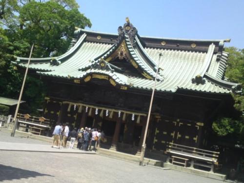Haiden du sanctuaire Mishima Taisha.