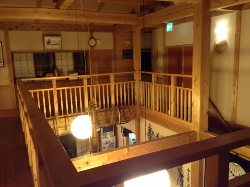 Palier d'un minshuku Yamakoshi, Niigata, Japon.