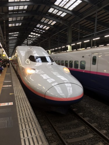 Le shinkansen Max Toki a deux étages.
