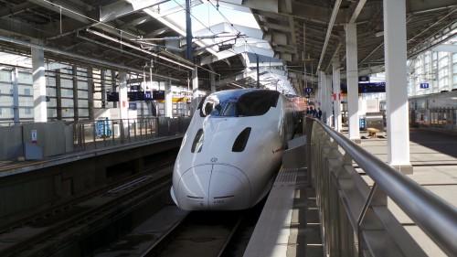 Se rendre à Izumi : prendre le shinkansen depuis la gare de Kagoshima, Kyushu, Japon.