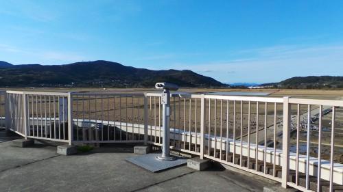 the observation deck at Izumi City Crane Observation Center
