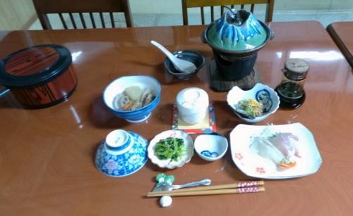 Dinner at Ryokan in Izumi city