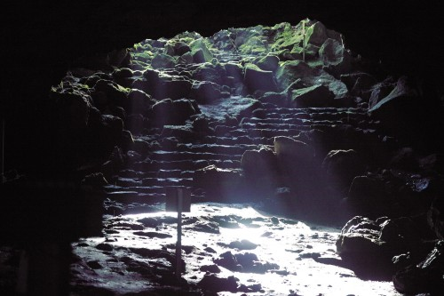 A historical cave in Mt.Fuji, Japan