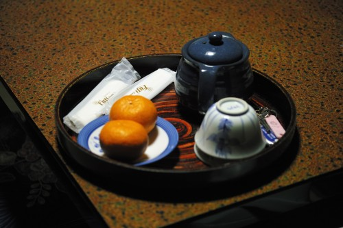 Mikan and tea