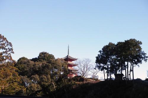 the pagoda in Okuyama Houkouji Temple