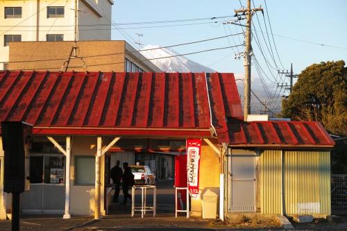 Yoshiwara's scenery over fuji