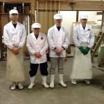 Principales étapes de fabrication du saké de la brasserie Masuichi à Obuse, Nagano.