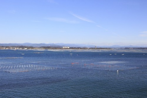Hamana-ko, which is the tenth largest lake in Japan.