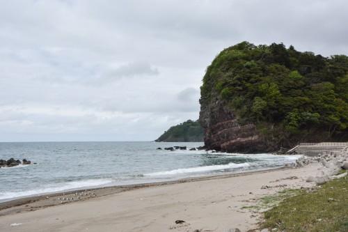 le rocher du temple Hakogata Hachimangu Shaso