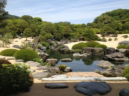 Le jardin du Musée d'art Adachi à Yasugi (Préfecture de Shimane), un des plus beaux jardins japonais du Japon