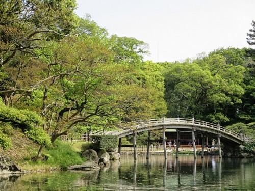 Le parc Ritsurin à Takamatsu (Préfecture de Kagawa), un des plus beaux jardins japonais du Japon