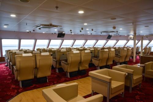 Comment se rendre sur l'île de Sado : la première classe dans le ferry Ogi-Naoestu