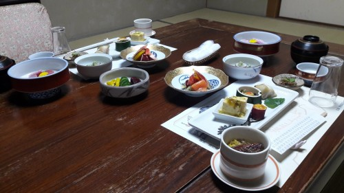 The Iwamotoro's Japanese meal in Enoshima island, Kanagawa prefecture, Japan.