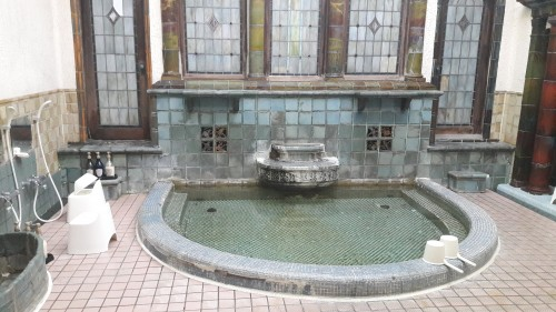 The Iwamotoro's bath room in Enoshima island, Kanagawa prefecture, Japan.