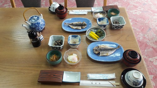 The Iwamotoro's meal in Enoshima island, Kanagawa prefecture, Japan.