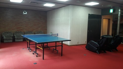 The Iwamotoro's pingpong room in Enoshima island, Kanagawa prefecture, Japan.