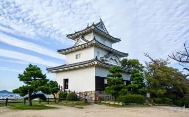 Le château de Marugame dans l'île de Shikoku, dans la préfecture de Kagawa