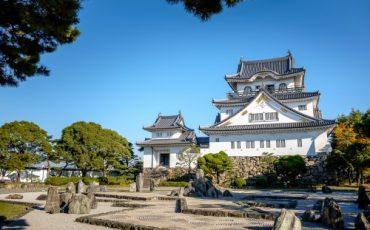 chateau Kishiwada, Osaka, Japon.
