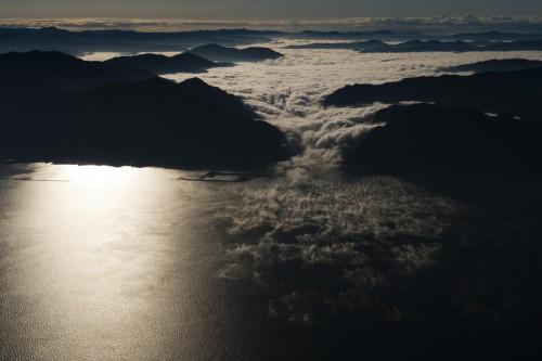 Paysage d'Ozu, mer de nuage, shikoku, ehime, mer de nuages