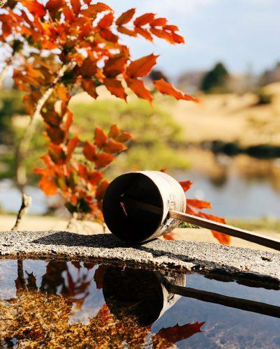 Parc Suizenji, jardin japonais, Kumamoto, sanctuaire