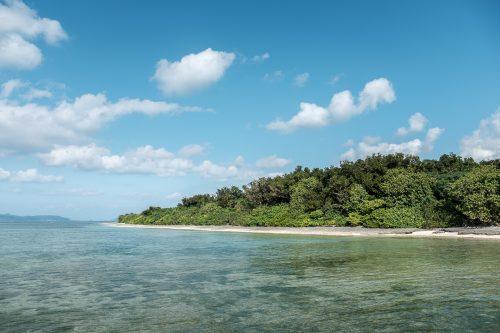 L'île de Taketomi dans la Préfecture d'Okinawa, Japon