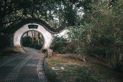 Jardin Fukushuen à Naha dans la Préfecture d'Okinawa, Japon