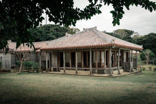 Ancienne résidence royale dans le jardin Shikinaen à Naha dans la Préfecture d'Okinawa, Japon