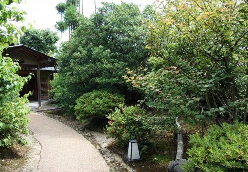Entrée du ryokan Yumeya à Iwamuro, près de Niigata au Japon