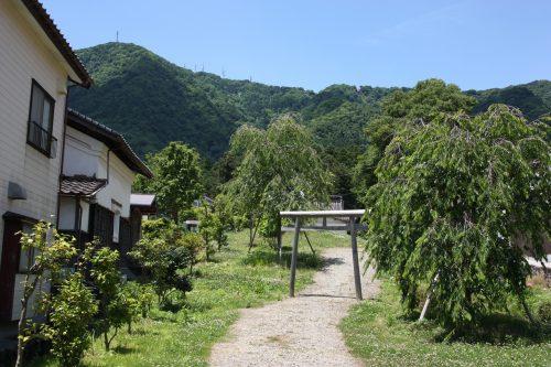 Dans le village de Yahiko aux alentours d'Iwamuro, près de Niigata au Japon
