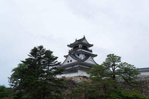 Le château de Kochi dans la ville de Kochi, sur l'île de Shikoku, Japon