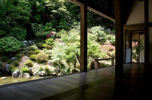 Jardin du temple Chikurin-ji dans la ville de Kochi, sur l'île de Shikoku, Japon