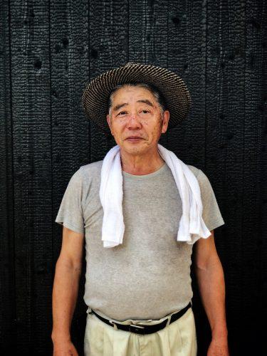 Le propriétaire du restaurant Botanchaya près de Toon, préfecture d'Ehime, Japon