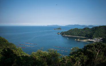 Point de vue en haut de la randonnée sur l'île d'Ohnyujima