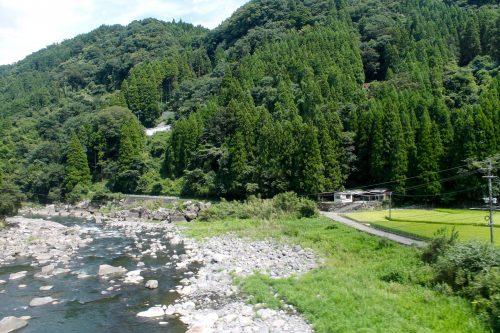 Forêts de la région de Bungo près d'Amagase Onsen dans la préfecture d'Oita, Kyushu, Japon