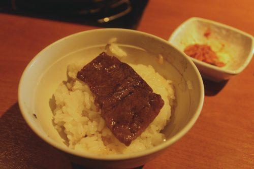 Boeuf de Bungo dans un barbecue coréen à Beppu, prefecture d'Oita, Japon