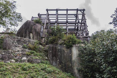 Naegi Castle Ruins in Nakatsugawa, Gifu Prefecture, Japan