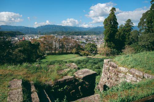 Ruins of Hitoyoshi Castle, Kumamoto Prefecture, Kyushu, Japan