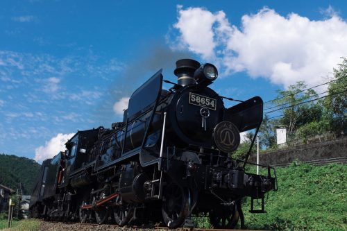 Train à vapeur SL Hitoyoshi, préfecture de Kumamoto, Kyushu, Japon