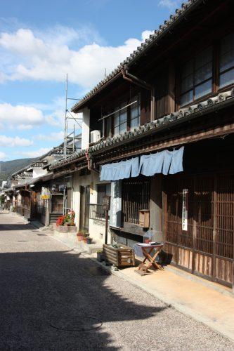 Les bâtiments traditionnels du quartier historique d'Udatsu, Mima, Tokushima, Shikoku, Japon