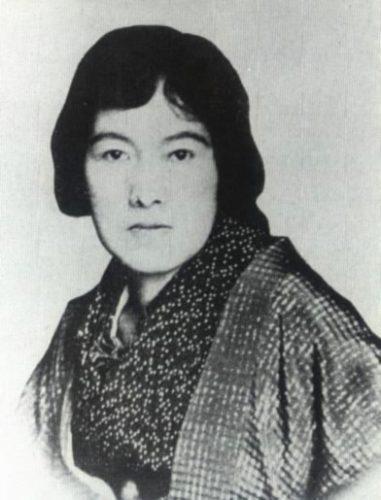 Portrait of Akiko Yosano, poet from Sakai, Osaka, Kinki Region, Japan