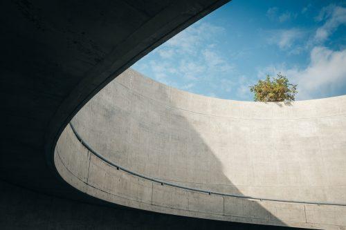The museum of Osaka Sayamaike prefecture designed by Tadao Ando, Japanese architect from Osaka, Kinki, Japan
