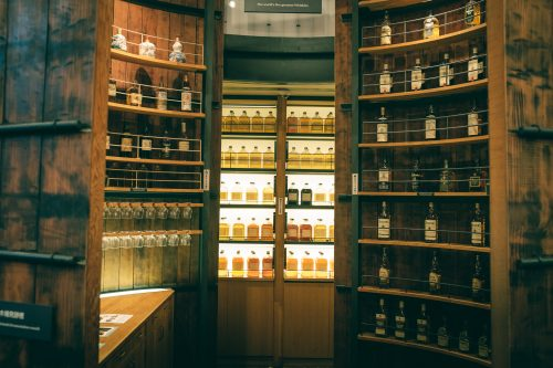 Bar de la distillerie de whisky Yamazaki, Osaka, région du Kansai, Japon