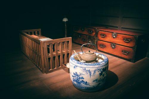 Reconstitution de la maison d'Akiko Yosano, poétesse originaire de Sakai, Osaka, région de Kinki, Japon