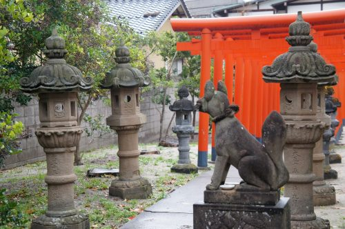 Petit sanctuaire dans Kaike Onsen, région du San'in, Japon