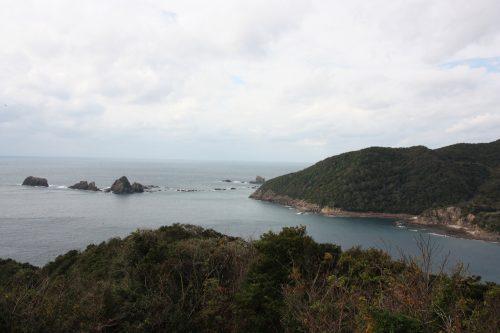 Vue depuis l'Observatoire de Marukizaki au large de Bonotsu, à Minamisatsuma, Kagoshima, Japon
