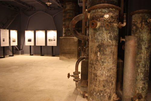 Salle retraçant l'histoire de la distillerie Mars Tsunuki à Minamisatsuma, Kagoshima, Japon