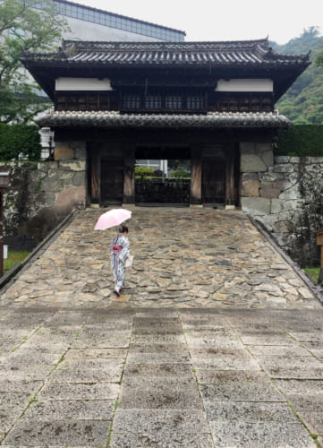 Yugaramon, l'entrée château de Saiki, Oita, Kyushu