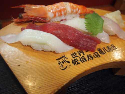 Assortiment de nigiri sushis
