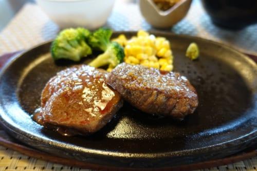 Gros plan sur le steak de bœuf de Takachiho au restaurant Nogami (Miyazaki, Kyushu)